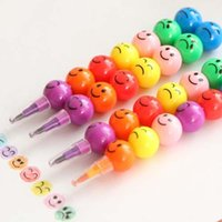Wholesale Creative Sugar Coated Cartoon Smiley Graffiti Pen Color Stationey Gift Scrapbooking Deco Student Prize Award