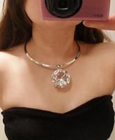 Wholesale Big Stone Necklaces - Wholesale-New 2015 SBY0387 Fashion Collars Chains Short Big Stone Necklaces Chokers for women Collars Jewelry
