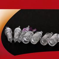 titannadeln derma großhandel-Hohe qualität 11 stücke verschiedene größe ersatzkopf titanium nadel patronen für eletric micro nadel derma stift