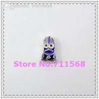 Wholesale Wholesale Minion Charms - Wholesale-Purple Minion Floating Charm Evil Despicable Me Locket Charm For Glass Floating Locket Accessories