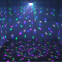 Wholesale Dj Laser Light Ball - Voice Control LED Crystal Magic Ball Light 6 Color Change Laser Effects Stage Lighting Disco Lights For DJ Bar Party Supplies