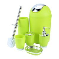 Wholesale Toilet Brush Style - Hot Sale 6Pcs set European Style Bathroom Accessory Set Soap Dish Dispenser Tumbler Toilet Brush Holder