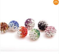 Wholesale Disco Ball Bead Bracelet Shamballa - 20pcs lot 10mm Shamballa Beads,Shamballa Bracelet Crytal Beads,Multi Color To Choose Disco Ball Crystal Beads Free Shipping