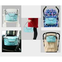 Wholesale Pram Storage - Baby Stroller Pram Pushchair Oxford cloth Bag Diaper Storage Organizer Pouch Accessories