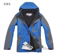 Wholesale Men Outdoor Hunting Camping Waterproof - Fall-2015 New Men's 2-pieces Softshell Ski Suit 3-in-1 Waterproof Outdoor Camping Jackets Hunting Clothes Man Mountaineering Jacket