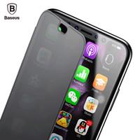 bazus iphone toptan satış-Baseus İnce Flip Case Iphone X 360 Tam Vücut Koruyucu Tpu Kılıf Iphone X 10 Tam Ekran Koruyucu Pencere Kapak kabukları