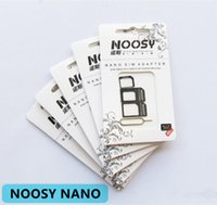Wholesale Slim Card Mobile - NOOSY NANO SIM Adapter NOOSY Nano Slim Card to Micro & Standard Slim 3 in 1 with SIM Card Pin For All Mobile Phone Devices in Retail Box