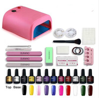 10 color uv gel polish 36w \ 24w uv lampada led manicure uv gel nail arte diy nail tools set set kit gel gel 10colors