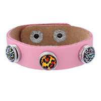 Wholesale Childrens Wedding - Noosa kids childrens mini noosa chunks snap button genuine leather bangles bracelets ginger snaps interchangeable DIY Jewelry 8 colors