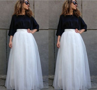 Wholesale Girls Maxi Skirts - Fashion Bridal Wedding Petticoats Women Wedding Underskirt Femal Girl Tulle Bridal Formal Plus Size Skirt White Maxi Petticoat Accessiories