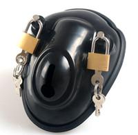 diseños de cinturones bdsm al por mayor-Último diseño Small Male Cock Cage Bondage Chastity Device Peins Lock BDSM Nuevo Sex toy cinturón de castidad de silicona