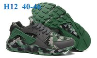 Wholesale Snow Boots Silver Color - Good Running Shoes Mens Huaraches Sneakers 2016 Cheap Shoes Athletic Air Huarache Camouflage Green Color Shoes Man Size 40-46