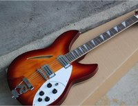 Wholesale 12 string semi hollow guitars - Factory Custom Tobacco Sunburst 12 Strings Electric Guitar with Rosewood Fingerboard,Chrome Hardware,Black Pickguard,Can be Customized