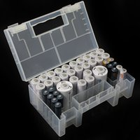 Wholesale Box Case Aa - Hot Sale High Quality PP plastic Large Translucent Hard Plastic Case Holder Battery receive a case toolkit Storage Box For AA AAA Battery