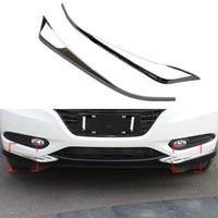 Wholesale Car Corner Bumper Guard - 2 Pcs Set Car Styling ABS Trim Decorative Garnish Front Corner Bumper Guard Cover Protector For Honda HR-V HRV 2014 2015 2016