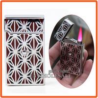 Wholesale Designer Electronic Cigarettes - Designer Jet Hot Pink Flame Torch Windproof Butane Cigar Cigarette Touch Sensor Lighter