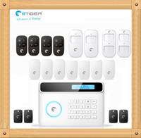 Wholesale Diy Gsm Pstn Alarm - Free shipping eTIGER S4 Wireless GSM + PSTN Alarm System DIY Set 433Mhz Pet PIR Motion Detector