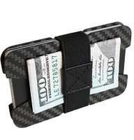 bant cüzdanlar toptan satış-Minimalist Cüzdan - İnce Para, Kimlik Kredi Kartı Tutacağı - Hafif Ön Cep Erkek Cüzdanı - 4 Para Klipsi Bantı Dahil