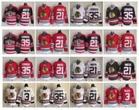 Wholesale Pierre Pilote - Throwback Chicago Blackhawks Hockey Jersey 21 Stan Mikita 3 Pierre Pilote 35 Tony Esposito Vintage CCM Authentic 100% Stitched Jerseys