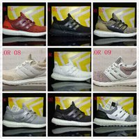 Originale 2017 Ultra Boost 4.0 Triple Nero bianco Scarpe da corsa Donna Ultraboost 4 Primeknit Runs Moda uomo Scarpe Ultrals Boosts