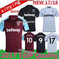 Wholesale Man United Top - Top Thai 2017 2018 West Ham United home soccer jersey 17 18 FEGHOULI CARROLL SAKHO AYEW PAYET West Ham Away 3rd football shirt