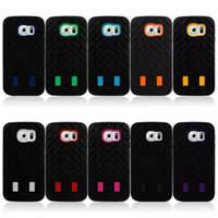 Wholesale Robot S3 - 3 in 1 Robot Hybrid Armor Shockproof plastic+ Silicone Case Cover for iphone 4 4S 5 5S 5C 6 6+ plus 5.5 Samsung Galaxy S3 S4 S5 S6 Note3 4