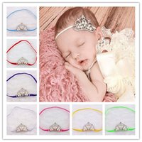 Unique New Baby Hairbands Crown Acessórios para crianças Kid Girl's Pearl Diamond Hair Arcos Girl Headband Elastic Party Headwear A5058
