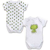 2PCS / LOT Baby Strampler Cotton Frog Pattern Kurzarm-Spielanzug-Baby-Sommer-Kleidung 2015