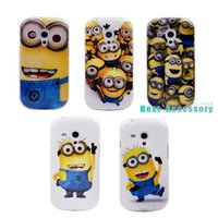 Wholesale Galaxy S3 Mini Cases Minions - Wholesale-For S3 Mini TPU 3D Cartoon Case Despicable Me Minions TPU Case Cover for Samsung Galaxy S3 mini i8190 TPU Back Phone Cases Bags