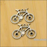 pendentifs vintage pour la fabrication de bijoux achat en gros de-30 pcs Vintage Charms Vélo Pendentif Antique argent Fit Bracelets Collier DIY Métal Fabrication De Bijoux