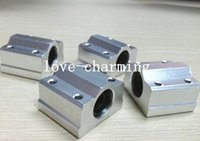 Wholesale Cnc 16mm Bearing - 4pcs SC16UU SCS16UU 16mm Linear Block CNC Router bearing block DIY CNC Parts