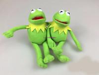 rana telefono al por mayor-Nuevo 20 Unids / lote Sesame Street The Muppets Kermit the Frog Cute 15cm Peluches de dibujos animados Muñecas de peluche Teléfono Llavero Colgante Juego de regalo para niños