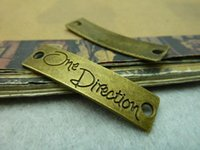 Wholesale One Direction Connector Charms - 11x40MM DIY jewelry accessories wholesale vintage one direction charm necklace pendants, antique tibetan silver connector charm