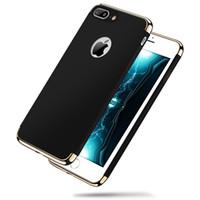gehäuseboden chrom großhandel-Luxus Case für Iphone x 8 Magic Hard Zurück Hybrid Rüstung Chrome PC Cover Galvanik Für Iphone 8 plus 7 7 plus 6 6 plus