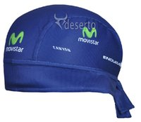 Wholesale Movistar Cycling Cap - Wholesale-Movistar blue pirate scarf outdoor scarf Cycling Hurtan discharge method breathable sports riding wear best jersey free shipping