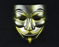 Wholesale Cool Halloween Costumes For Guys - Halloween Christmas cool mask V For Vendetta Anonymous Movie Guy Fawkes Vendetta Mask cosplay costume TY933