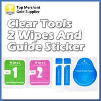 Wholesale Clean Iphone Glass - Wholesale Cleaning Tools Wet & Dry 2 in 1 Wipe Dust-Absorber Guide Sticker For Tempered Glass Screen Protector