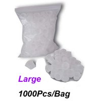 Wholesale Grips Needles - Large Tattoo Ink Cups 1000Pcs Bag White Color For Tattoo Gun Needle Ink Cups Grips Kits