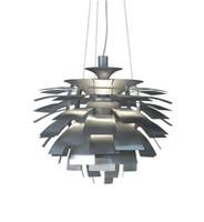 ingrosso lampada nera diy-40 60 72CM Lampada a sospensione a LED Poul Henningsen PH Artichoke luce di soffitto fai da te in alluminio bianco / vino rosso / oro / argento / nero Color Bar lampadari