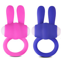 Wholesale Vibrator Ring Hot Product - Hot Rabbit Vibrator Penis Ring Sex Toys For Men Delay Spray Ejaculation Cock Ring For Women G Spot Clitoris Stimulation Adult Sex Products