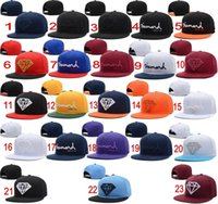 Wholesale Snapback Wine Red - 2016 New Fashion 23 colors Wine Red Diamond Hat Baseball HipHop Snapback Sport Cap Cheap Men Women LK Adjustable Wholesale Free Shipping
