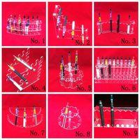 vitrina para e cig venda por atacado-Acrílico e cig Display Case Stand cigarro prateleira suporte eletrônico para cigarro e-cig ego bateria vaporizador ecigs MOD Drip Tip