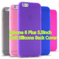 Wholesale iphone5 case purple - Ultra Soft Silicone Cover For Iphone5  6 6 Plus 5.5inch Back Phone Case With Smoothy Touch Feeling Thin Style Carrying Case