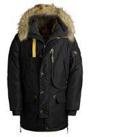 Wholesale Luxury Down Jacket Fur - Hot Sale 2018 new Luxury Parajumpers men's kodiak down Jacket Hoodies Fur Fashionable Winter Coats Warm Parka Free shipping size M-XXL