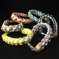 Wholesale Assorted Wood - Hidden Smoking Pipe for Tobacco Descreet Bracelet Smoking Pipe Wrist Hookah Handmade Beaded Bracelet Smoking Strands Assorted Colors