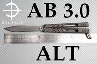 Wholesale Flip System - [ BALIPLUS BLADES ] BALIPLUS AB BALISONG BUTTERFLY KNIFE AB 3.0  TI HANDLE TI CLIP BUSHING SYSTEM CNC LATCH CNC HANDLE FLIPPING