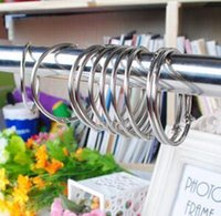 Wholesale metal shower curtains hooks resale online - New Arrive Window Shower Curtain Rod Clips Rings Drapery Clips curtain hook