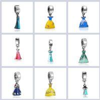 Wholesale Pandora Beads 925 Ale - New 925 silver Princess skirt Charms beads Macroporous beads ale Stamped Fits European Pandora Jewelry Bracelets Free Shipping
