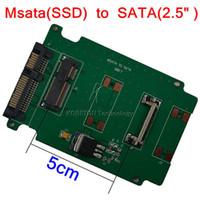 ssd sata 1,8 toptan satış-Toptan Satış - SATA Mini PCI-E 1.8m 2.5 inç SATA 22 Pin 5CM SSD PCI E SATA II HDD Adaptörü Dönüştürücü