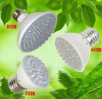 Wholesale Aquarium Led Lighting 3w - E27 38led 60led 80led 3W Hydroponic Plant Grow Grow 4.5W LED Light Bulb 110V-220V RED and BLUE Garden Greenhouse Aquarium Light